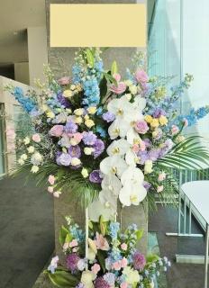 特大サイズ◆開店・お祝いスタンド花・2段・ブルー系