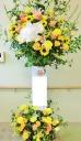 開店・お祝いスタンド花◆明るいビタミンカラー・黄系