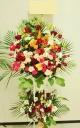 人気のレッド系◆開店・お祝い用スタンド花・2段