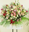 季節の花でお任せ◆開店・お祝スタンド花・通常サイズ