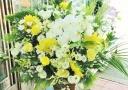 胡蝶蘭とバラの供花アレンジ・特大『光』