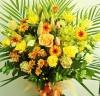 スタンド花の華やかさ◆開店・お祝用アレンジ(黄系)