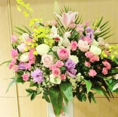 ◆開店・お祝いスタンド花(P・パープル)通常サイズ