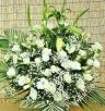 白バラとかすみ草の供花アレンジ・白系(ユリなし)