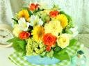 母の日に☆パリスタイル・アレンジ・イエローオレンジ