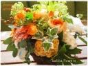 sakkaオレンジアレンジflower