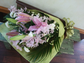 【されや】 メモリアル花束 ピンク