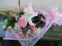 【されや】 メモリアル花束 ライトピンク