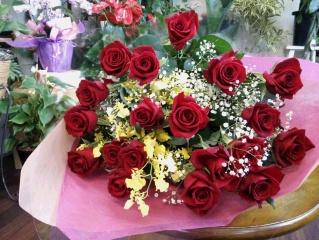 【されや】 赤バラの花束
