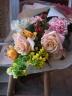 オレンジグラデーションのスタンダード花束