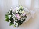 トルコキキョウと菊の花束
