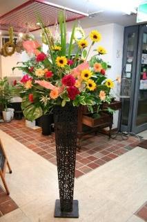 元気いっぱいスタンド花