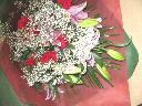 三色の豪華な花束