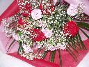 人気のレッド/ピンクの2色入り花束