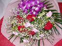 鮮やかな感じの花束