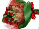 真っ赤な真紅のバラの花束