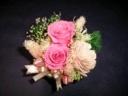 ピンクの薔薇が可愛いラウンジのプリザーブド
