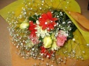 明るくて可愛い子ぶりの花束