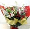 クリスマス限定★銀糸枝と赤薔薇の花束