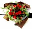 赤薔薇のクランツブーケ