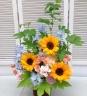 涼夏を彩る花篭