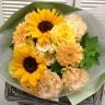 暑さを癒す・・・夏の花たちブーケ