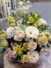 ふんわり優しいお花たちの花篭