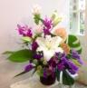 アジアンピンクの 花篭