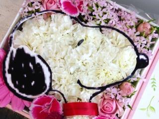 野の花の贈り物...スヌーピーピンクバージョン