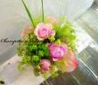 シャンペトル の花篭 ピンクミントバージョン