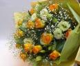オレンジバラの花束*花想久里・はなおくり*