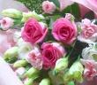 ピンクバラとカーネーションのブーケ*花想久里*