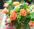オレンジ薔薇のアレンジ*花想久里・はなおくり*