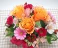 オレンジ薔薇とガーベラのアレンジ*花想久里*