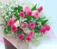 ピンクバラの豪華な花束*花想久里・はなおくり*