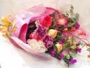 バラの秋色ゴージャス花束