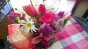 チューリップの春色アレンジメント