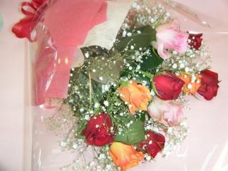 ♪バラ混合花束♪