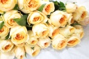 こだわりのオレンジバラの花束