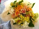 Rucheスタイル☆イエロ-ふんわり花束