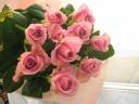 シンプルスタイルブーケ(花束)ピンクローズ