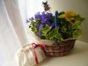 Rucheスタイル花鉢セットb・ミニ巾着付き