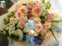 パステルカラーのフンワリ優しい花束