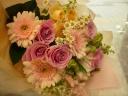 ルーシュ・季節の花束おまかせパステルピンク系