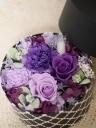 プリザ☆紫のバラのBOXアレンジ