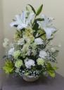 白・グリーンのお供え花