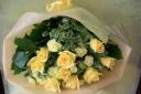 運気アップのイエローローズの花束