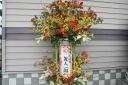 豪華2段飾りのスタンド花