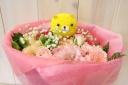 可愛いくまさんのポンポンマムの花束