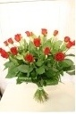 真っ赤な20本ローズの花束